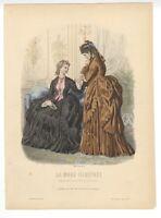 """Ladies Fashion Print - """"La Mode Illustree"""" 1872 No. 37"""