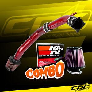 For 03-07 G35 3.5L V6 Manual Red Cold Air Intake + K&N Air Filter