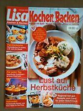 Zeitschrift: Lisa Kochen & Backen 10/2013 Lust auf Herbstküche, Rezepte v. Land