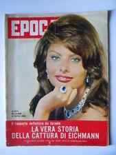 EPOCA n°546 1961 Foto Album Sofia Loren Pablo Picasso L' Affare Peugeot  [G789]