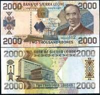 SIERRA LEONE 2000 2,000 LEONES 2006 P 26 UNC