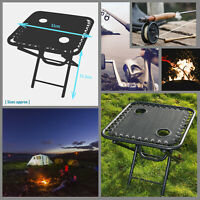 Outdoor Textoline Table Folding Camping Portable Garden Camping Cup Holder