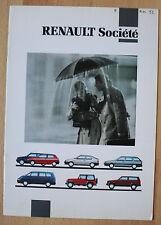 Très rare Catalogue Renault Société - France - 1992 - 5 Clio 19 21 Jeep Espace