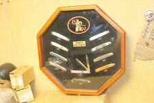 Frost Steel Warrior Rising Sun Doctor's Knife Glass Display Case w/ 10 knives