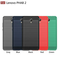 For Lenovo Phab 2/2 Pro Shockproof Carbon Fiber Soft TPU Cover Case 5 Colors