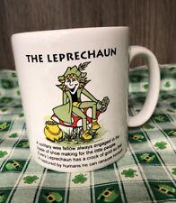 St. Patrick's Day - The Leprechaun Carrigcraft Mug Ireland EUC