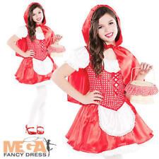 Red Riding Hood Girls Fancy Dress Fairytale Book Week Kids Childs Costume Outfit