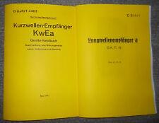Dienstvorschrift Kurzwellen-Empfänger KwEa & Langwellenempfänger ( Lw.E.a) 1941