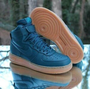 Nike Air Force 1 High SE Midnight Turquoise Women's Size 10 Gum 860544-300