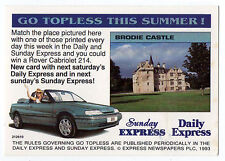 1993 Scarce Trade Card Daily Express Go Topless Week Two - Brodie Castle