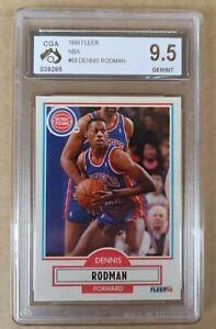 Dennis Rodman Fleer 1990/91 - NBA Basketball Card #59 - CGA 9.5 GEM/MINT not PSA