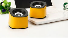 Yellow Mini USB Speakers for Computer Laptop Tablet PC MP3 iPad Smartphone PSP