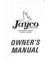 1973 Jayco Jay Hawk Thrush Finch D Flipper Popup Trailer Owners Manual