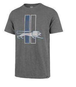 Detroit Lions Men's '47 Brand Throwback Scrum Tee T-Shirt - Gray