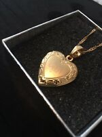 WOMENS ISLAMIC JEWELLERY NECKLACE GOLD PLATED HEART ALLAH PENDANT LOCKET