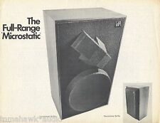 Microstatic Original Full-Range Speaker Brochure