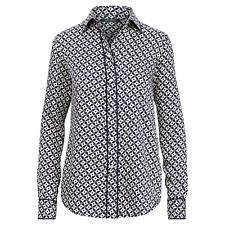 $89.50 New Lauren Ralph Lauren Geo-Print Twill Shirt, Navy/Cream, Size Large NWT