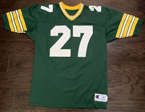 Vintage #27 Terrell Buckley Green Bau Packers NFL Football Jersey Mens Size 48