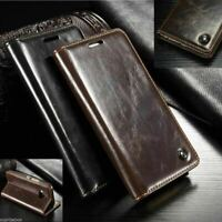 Genuine Real Leather Wallet Flip Case for iPhone 12 11 PRO MAX XR X/XS 8/7/SE 6S