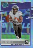 2020 Donruss Optic J.K. Dobbins Silver Prizm Holo Rated Rookie RC Ravens #161