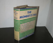 Rebecca Scarlett The Monkey's Tail 1934 Novel in Jacket Scarce Coming of Age