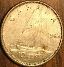 1963 CANADA SILVER 10 CENTS COIN