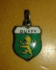 Duffy Coat of Arms / Family Crest Silver Plated Enamel Charm