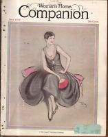 1928 Womans Home Companion June - John Wesley; Mormon battle; Girl Scouts;Weaver