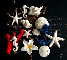 SEA horse SHELLS urchin starfish plumeria anchor CORAL edible cake toppers