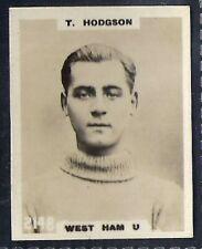 PINNACE FOOTBALL-PINNACE BACK-#2148- WEST HAM U. - T. HODGSON