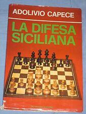 LA DIFESA SICILIANA - Adolivio Capece - De Vecchi Editore ( SCACCHI ) (C4)