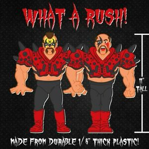 Set of WWF Hasbro Series 2 Wrestling Figure Plastic Cutouts of Legion of Doom