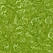 Azuli Tonal Birds Green Quilt Fabric - 1 Yard