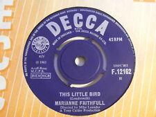 """MARIANNE FAITHFULL This Little Bird   Decca 1965 UK 7"""""""