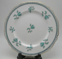 Spode Darlington Y6569 Dinner Plates 10 1/2in Teal Bone China