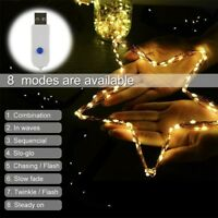LED String Copper Wire Fairy Lights Battery USB 12V Xmas Party Fairy Home Decor