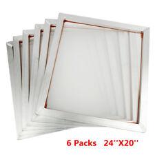 6pcs 60x50cm Screen Frame With 110t Mesh Silk Screen Printing Aluminum Alloy