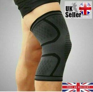 Knee Support Compression Sleeve Brace Bandage Arthritis Pain Running Sports Gym