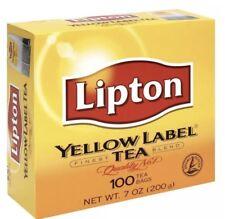 Lipton Yellow Label Tea, Finest Blend, Black Tea, 100 Tea Bags -Fresh Stock