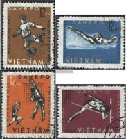 Vietnam 283-286 (kompl.Ausg.) gestempelt 1963 Sportspiele in Djakarta