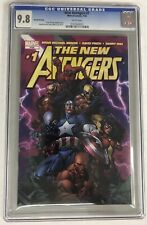 New Avengers #1 Cgc 9.8 White Pages Finch Variant Second Printing Marvel 2005