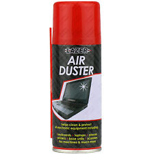 12 x Compressed Air Duster Spray Can Cleans & Protects Laptops Keyboards.. 200ml