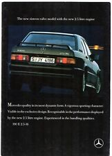 Mercedes-Benz 190 E 2.5-16 Cosworth 1988-90 UK Market Sales Brochure