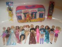 Huge Lot 14 VTG Barbie Dolls Clothing & Accessories Articulated Twist N Turn Bag