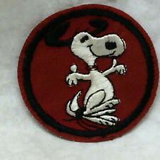 Vintage 1970's Hippie Snoopy Patch Cheesecloth Back
