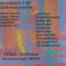 PEMO Software Soundpack 5 für Wersi OAS Instrumente