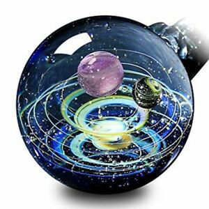 Pavaruni Galaxy Pendant Necklace Universe Glass Jewelry Space Cosmos Design