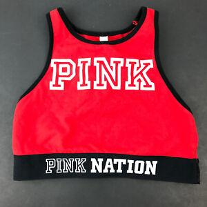 Victorias Secret Pink Nation Haut Court Red Exercise Sports Bra  XS  K24