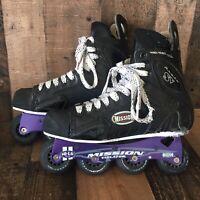 Mission Proto SV 3.3 Violator Hi-Lo 80/72 Roller Inline Hockey Skates Size 10D