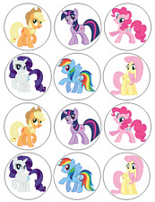 12 My Little Pony Edible Wafer Paper Cupcake Toppers